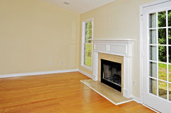 Small Living Area with Fireplace Royalty Free Stock Images