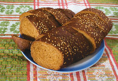 Bread honey. A small loaf of bread with honey sesame side of dietary product stock images