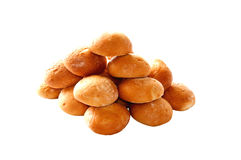 Small loafs. A group of isolated stacked small loafs Stock Images
