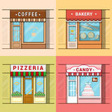 Small local business showcase storefront shop wind Royalty Free Stock Images