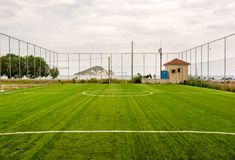 Small local football field in a Greek village Stock Images