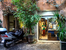 Small local shop in Rome Royalty Free Stock Photo