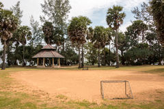 Small local soccer field in Thailand Stock Images