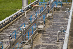 Small local waste water treatment facility Royalty Free Stock Image