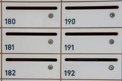 Small locker. With key for condominium, school, university Stock Photography