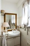 Small loft furnished, bathroom Stock Photos