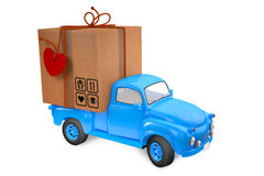 Small lorry with parcel Royalty Free Stock Photo