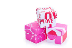 Small LOVE gift boxes Royalty Free Stock Photography