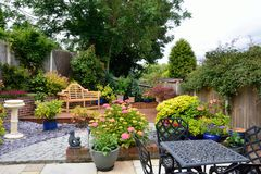 Small low maintenance garden royalty free stock image