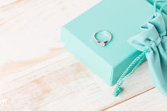 Small luxury gift box. And bag with jewelry Stock Images