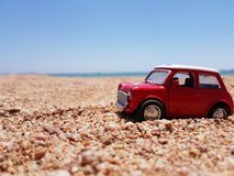 Small machine in the sand stock photography