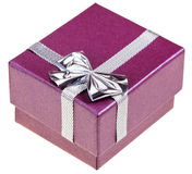 Small magenta gift box Royalty Free Stock Photos