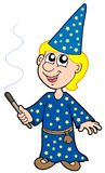 Small magician. On white background - vector illustration Royalty Free Stock Photo