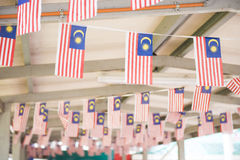 Small Malaysia flag in building Stock Photo