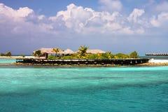 Small maldivian island resort Stock Images