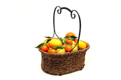 Small mandarin clementines and lemons stock image