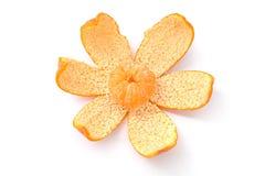 Small Mandarin Orange on Peel Royalty Free Stock Photos