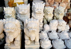 Small marble asian souvenirs in Da Nang, Vietnam Royalty Free Stock Photo