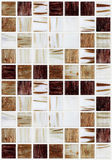 Small marble square tiles with brown color effects Stock Images