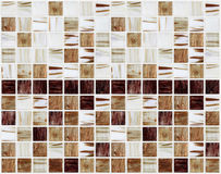 Small marble square tiles with brown color effects Royalty Free Stock Image