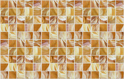 Small marble square tiles with color effects Royalty Free Stock Images