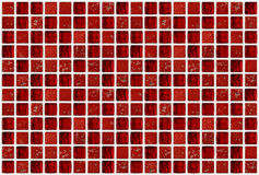Small marble square tiles with red color effects Stock Images