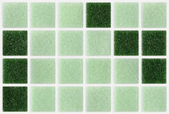 Small marble tiles green square shiny Royalty Free Stock Images