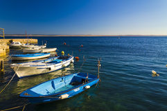 Small marina in adriatic sea Royalty Free Stock Images