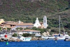 The Small Marina Of Golfo Di Marinella, Sardinia Stock Photos