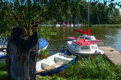Free Small Marina In Ruciane Nida Over Śniardwy Lake In Poland Royalty Free Stock Images - 133206199
