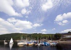 Small marina at Rur lake Royalty Free Stock Images