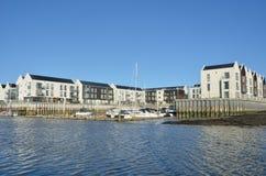 Small marina with sea Royalty Free Stock Photo