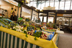 Small market in Bergerac France royalty free stock photos