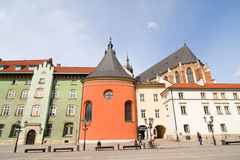 The Small Market Square in Cracow Royalty Free Stock Photography