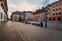 A Small Market square Maly Rynek in Krakow. Poland Royalty Free Stock Images