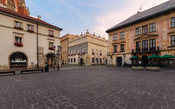 A Small Market square in the morning. Stock Images