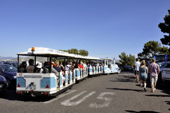 The small Marseille tourist train Royalty Free Stock Images