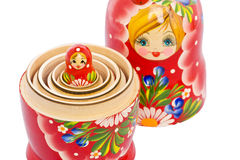 Small Matryoshka nested in the big one Royalty Free Stock Images