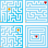 Small maze collections Stock Image