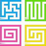 Small mazes. Set of four small mazes Royalty Free Stock Photo