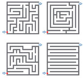 Small mazes. Set of small labyrinth in gray color Royalty Free Stock Photography