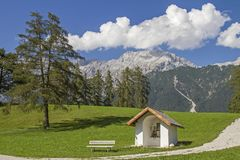Small meadow chapel near Wildermieming royalty free stock photography