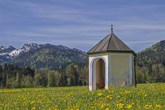 Small meadows chapel in Isarwinkel Royalty Free Stock Photo
