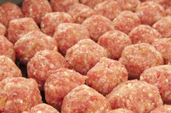 Small meat balls. On a black Stock Photos