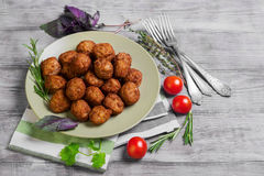 Small meat balls Stock Images