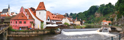 The city on vltava river Royalty Free Stock Image