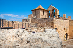 Small medieval stone castle on the rock, Spain Royalty Free Stock Photos