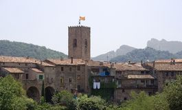 The small medieval village of Santa Pau, Spain Royalty Free Stock Image