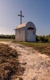 Small mediterranean chapel located in Arillas, Corfu Greece.  Royalty Free Stock Photography