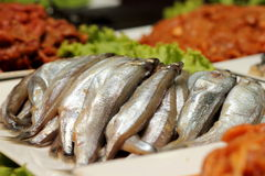 Small Mediterranean fish at market Stock Image